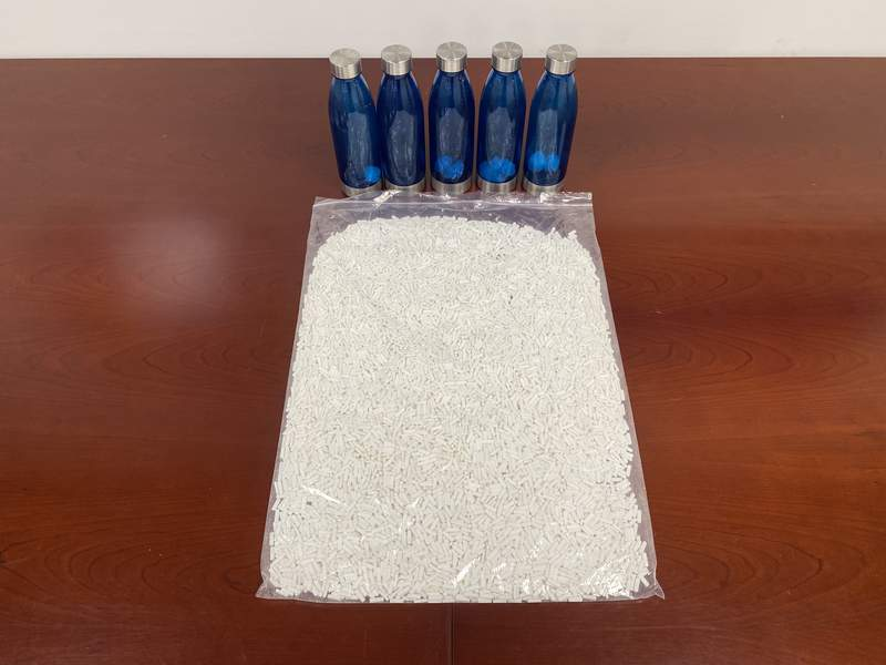 Fort Bend County officials found 10,000 tablets of Fentanyl hidden in a vehicle.