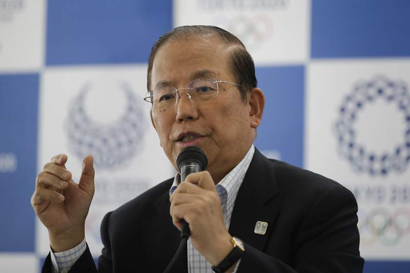 Toshiro Muto, CEO of the 2020 Tokyo Olympics organizing committee, speaks during a news conference Tuesday, June 11, 2019, in Tokyo. Next year's postponed Tokyo Olympics  if they happen  will be like no other, particularly for non-Japanese fans if they are allowed to enter in the middle of the COVID-19 pandemic. Tokyo organizing committee CEO Muto, after a meeting Thursday, Nov. 12, 2020, about infection countermeasures, confirmed for the first time that a limited number of non-Japanese fans may be allowed to attend. (AP Photo/Jae C. Hong)