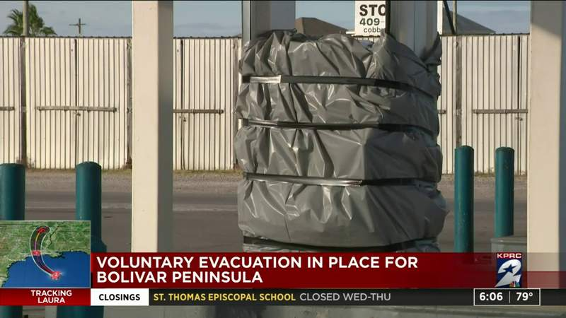 Voluntary evacuation in place for Bolivar Peninsula