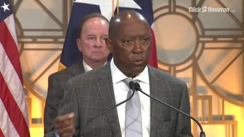 Mayor Sylvester Turner discusses perceived disparities in post-Harvey home rebuilding programs