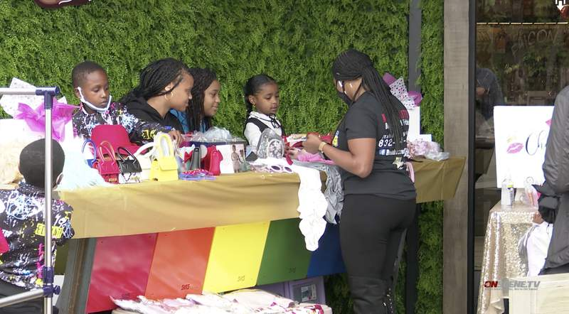 Fifteen kid entrepreneurs participated in a pop-up shopping experience at Bar 5015, a lounge at 5015 Almeda.