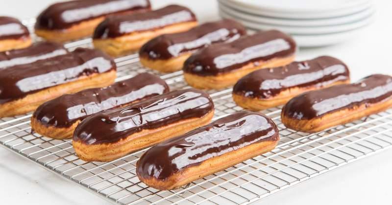 Stock image of Chocolate Eclairs