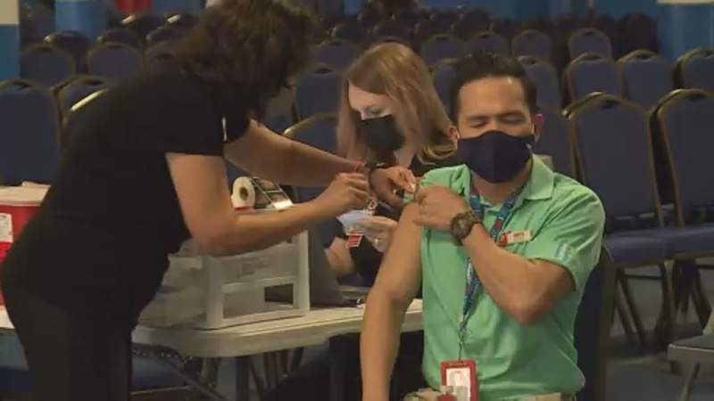 Hundreds of cruise line employees get vaccinated