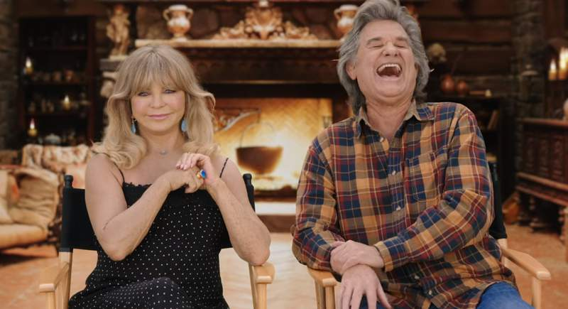 Goldie Hawn (left) and husband Kurt Russell discuss 30 years of life and experience in film.