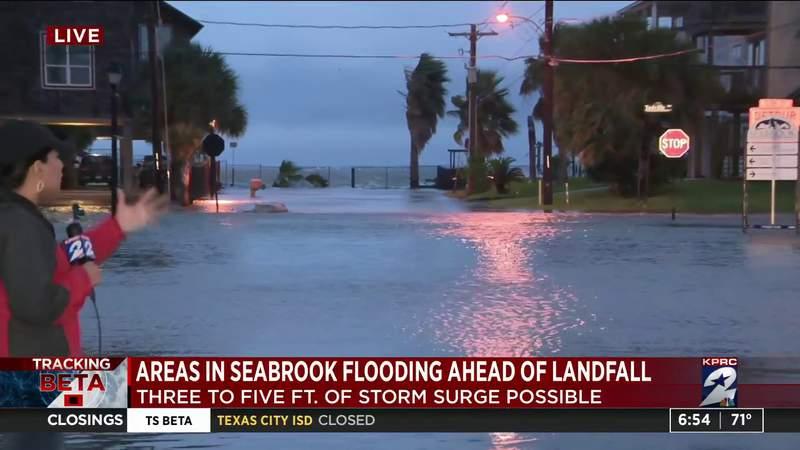 Areas in Seabrook flooding ahead of landfall