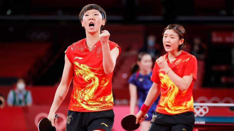 China's women's table tennis team won its fourth straight Olympic gold medal.