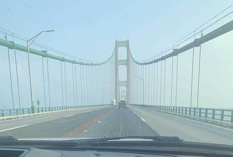 A look at the Mackinac Bridge.