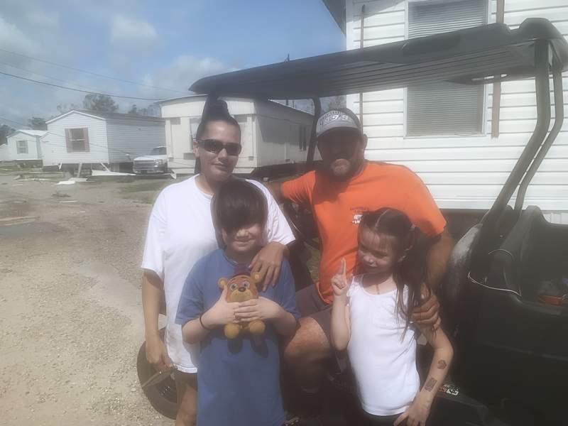 The Bowers family, of LaPlace, Louisiana.