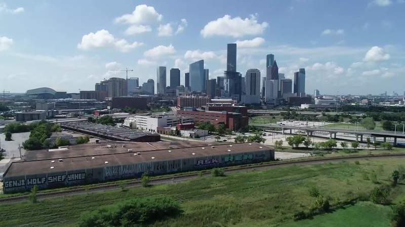 The Houston skyline is seen in this file image from 2020.