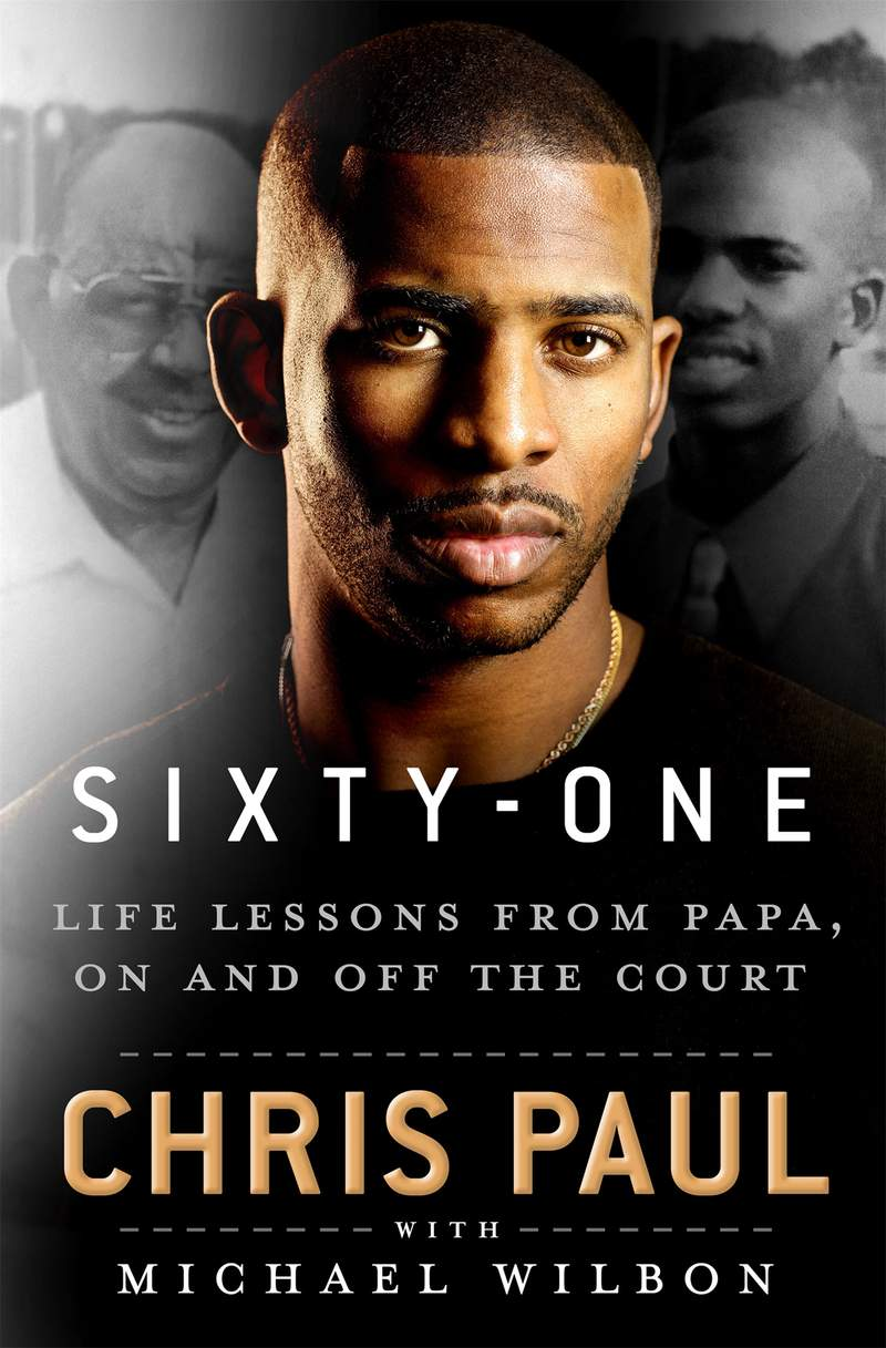 """This cover art released by St. Martin's Publishing Group shows """"Sixty-One: Life Lessons from Papa, On and Off the Court"""" by Chris Paul with Michael Wilbon. (St. Martin's Publishing Group via AP)"""