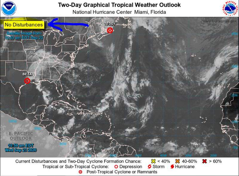 No Tropical Activity in the Atlantic Basin today