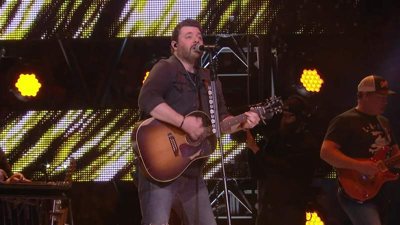 Chris Young performs at the Houston Livestock Show in Rodeo on March 9, 2020.