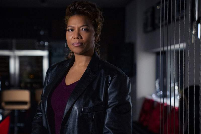 """This image released by CBS shows Queen Latifah as Robyn McCall in the pilot episode of the series """"The Equalizer."""" The series will debut immediately after CBS Sports Feb. 7, 2021, telecast of Super Bowl LV. (Michael Greenberg/CBS via AP)"""