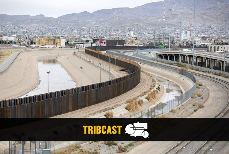 The border fence between El Paso and Juarez on Feb. 10, 2019.