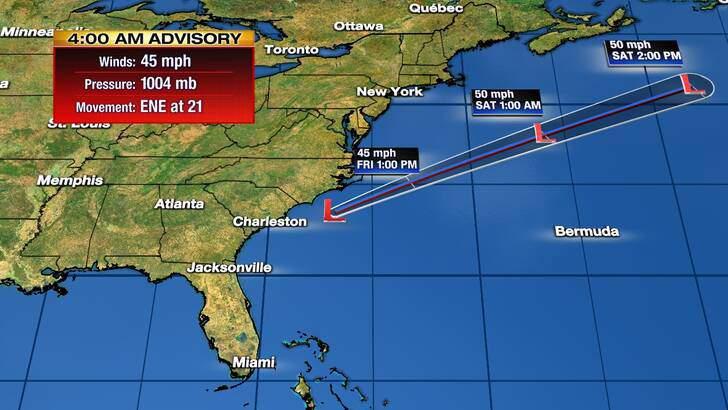 Tropics Forecast Cone at 2:34 Friday Night, November 13th