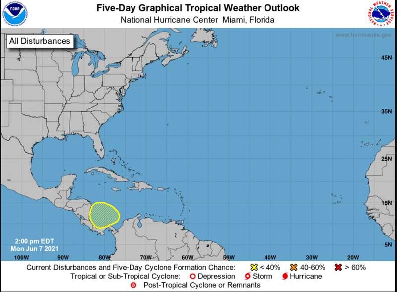 NHC 5 Day Forecast Graphic