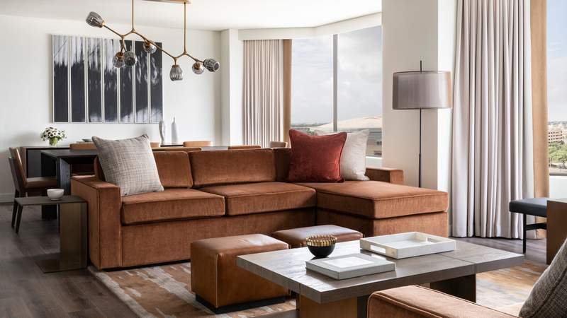 Changes to the guest rooms at Houston's Four Season Hotel are seen in these images provided by the hotel.
