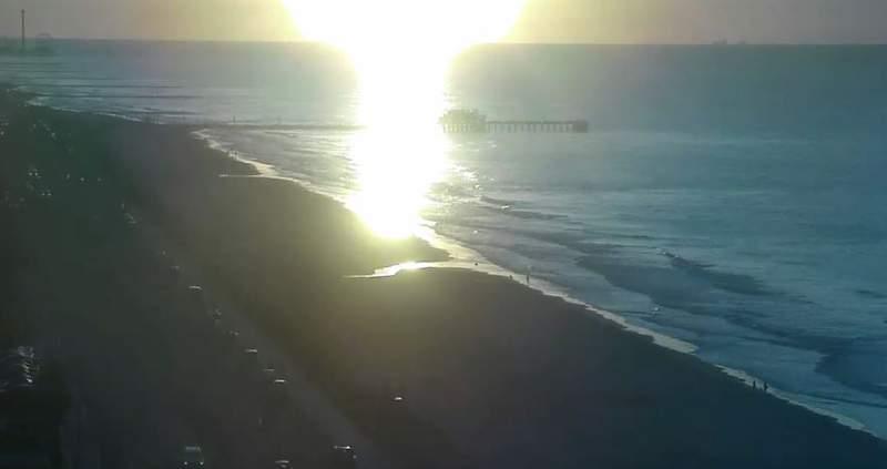 Sensational warm and humid Galveston sunrise
