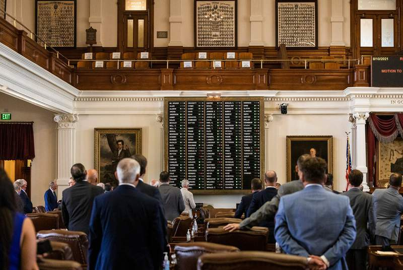 Members voted on a motion by State Rep. Will Metcalf, R-Conroe, to instruct the Department of Public Safety to detain absent members and return them to the House floor until a quorum is present on Aug. 10, 2021.