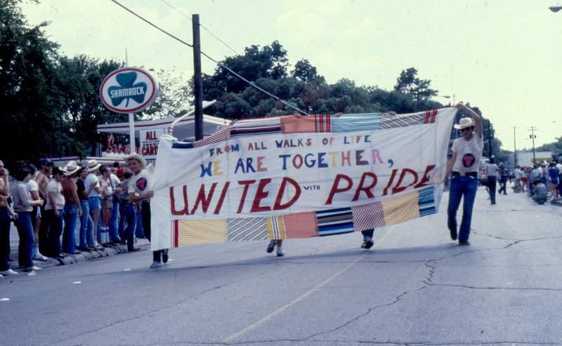 Beginning of Houston's Pride Parade of 1979