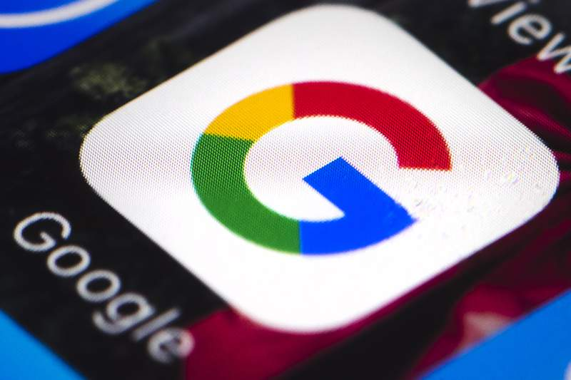 This April 26, 2017 file photo shows the Google mobile phone icon, in Philadelphia. Alphabet Inc., parent company of Google, reports financial results, Tuesday, April 27, 2021. Googles digital advertising network has shifted back into high gear after an unprecedented reversal during the early stages of the pandemic. (AP Photo/Matt Rourke)