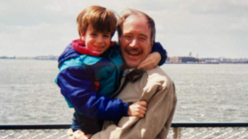 Jon Lynch is pictured as a boy with his father Robert. A property manager at the World Trade Center, Robert tragically lost his life during the 9/11 attacks. It inspired Jon's wife, Payton, to write a book telling his story and stories of others who lost parents during the attacks. Courtesy photo.