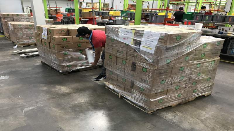 Houston Food Bank welcomes volunteers at warehouse facility on city's northside