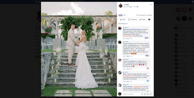 The couple took to social media to share photos from their big day.