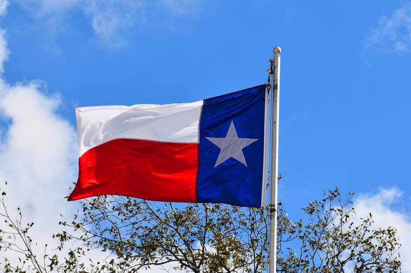 Pictured is the Texas state flag.