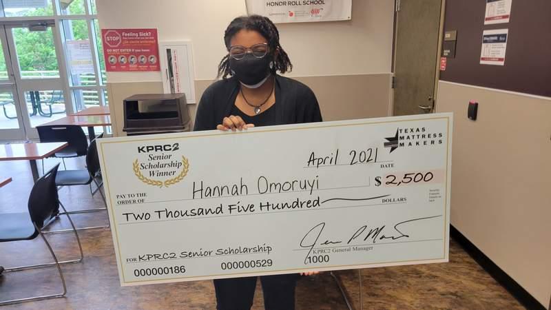 KPRC 2 Senior Scholarship: Hannah Omoruyi