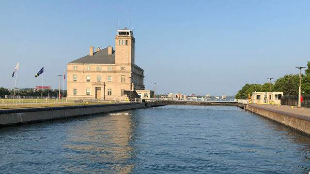 The MacArthur Lock is part of the Soo Locks in Sault Ste. Marie, Michigan. The Soo Locks see almost 90 percent of the world's iron ore go through them. Keith Dunlap/GMG.