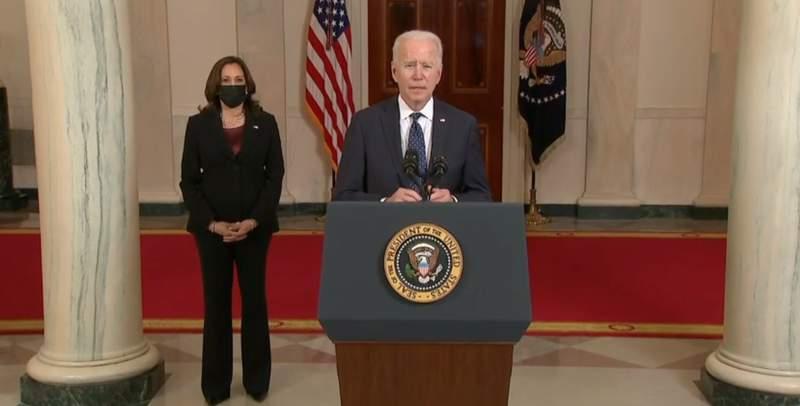WATCH LIVE: President Biden, VP Harris address nation after Chauvin conviction