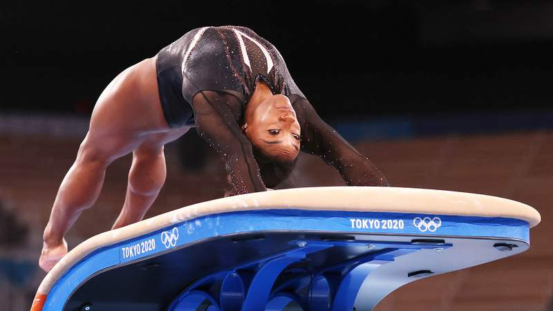 Simone Biles, 24, will earn her fifth eponymous skill if she lands a Yurchenko double pike vault at the Tokyo Olympics.