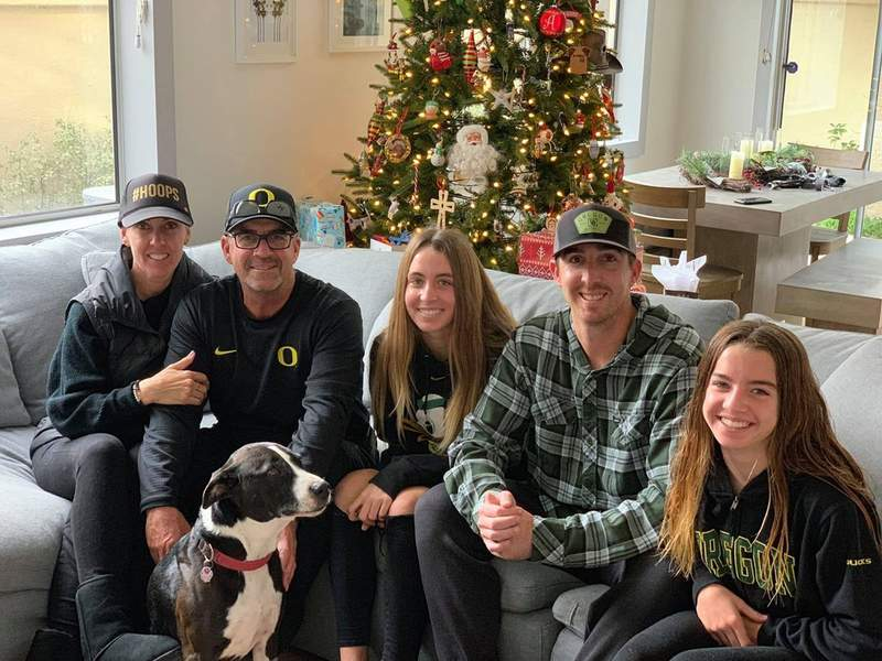 This is an image shared by the Altobelli family of (from left to right): Keri Altobelli, John Altobelli, Alexis Altobelli, J.J. Altobelli and Alyssa Altobelli. Keri, John and Alyssa died along with Kobe Bryant in the fatal helicopter crash on Sunday in Calabasas, CA.