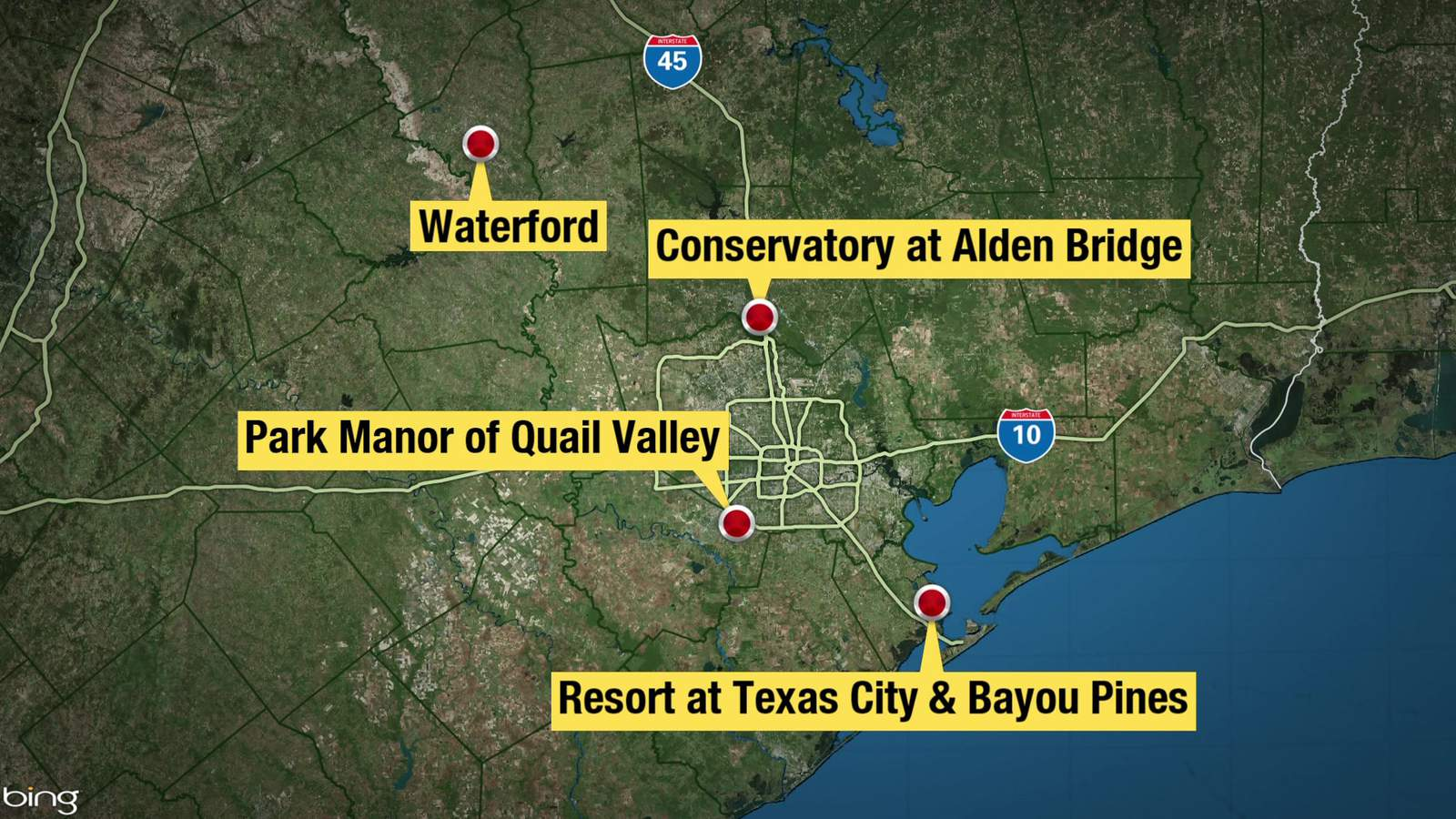 Vea un desglose de las instalaciones para personas mayores en el área de Houston con grupos de casos de coronavirus 3