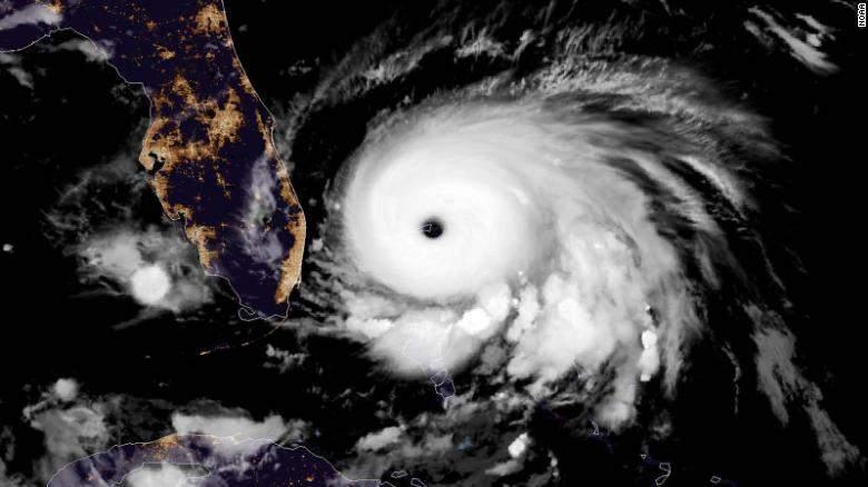 Hurricane Dorian courtesy CNN