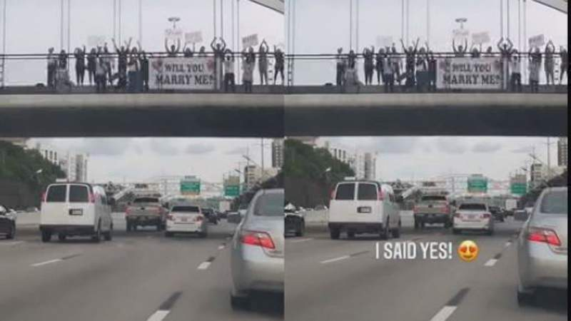 Houston couple's viral TikTok proposal