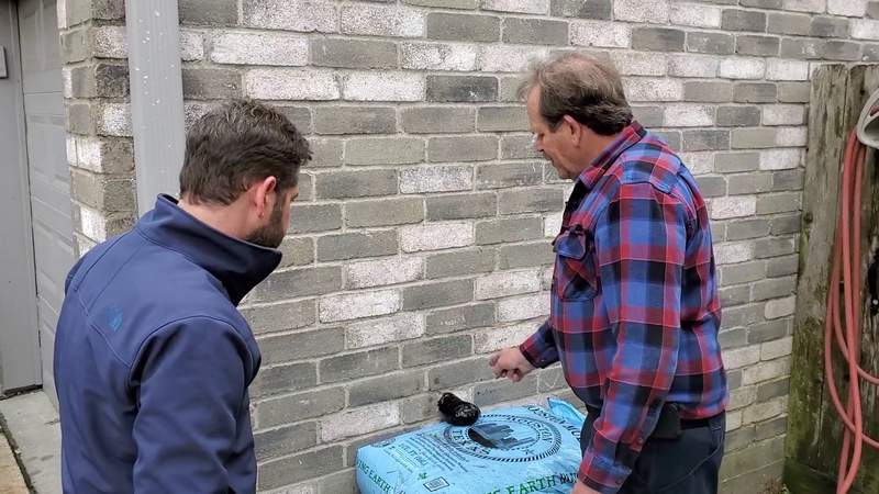 Hack to cover an outdoor faucet before server weather