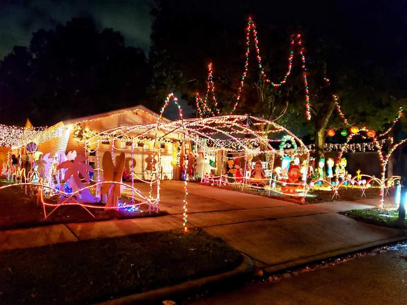 D&D Christmas Land in La Porte, Texas.