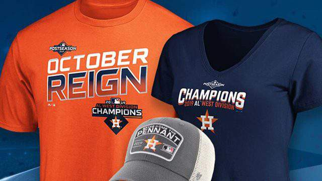 Some of the official Astros gear seen on the Astros Official Online Shop.