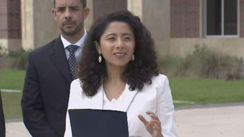 Harris County Judge Lina Hidalgo announced a news vaccine scholarship initiative program in an effort to motivate younger people to get vaccinated.