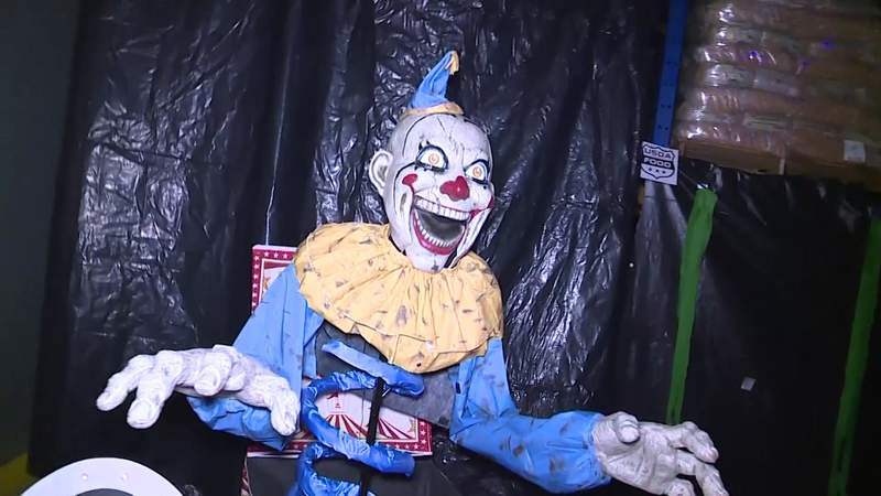 Socially-distanced haunted house helps raise money for food bank