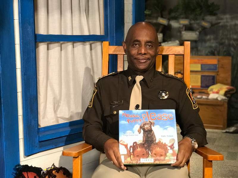 Fort Bend County Sheriff Eric Fagan helps unleash the imaginations of children through the power of reading and storytelling, featuring children's books written by Black authors.