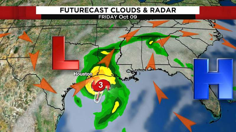 Hurricane Delta impacts Friday's weather