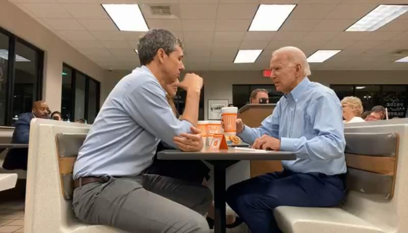 Beto O'Rourke takes Democratic candidate Joe Biden to Whataburger