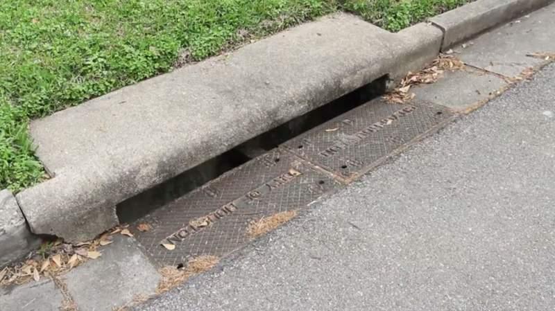 A City of Houston storm drain