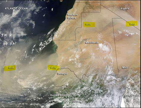 This NASA shot of a previous dust storm illustrates how large these are