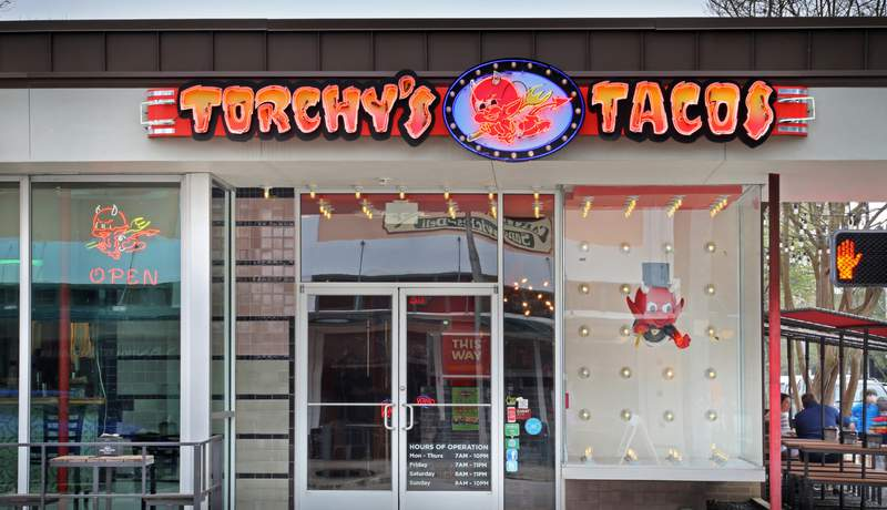 Torchy's Tacos in Houston's Heights area