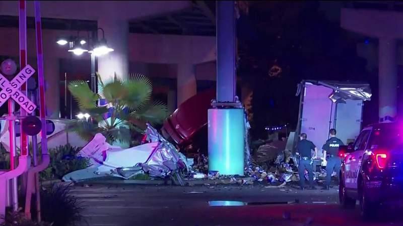 The scene after a big rig crash on Friday, Sept. 18, 2020.