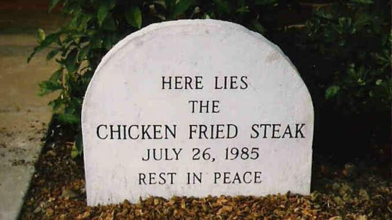 The resting place of chicken fried steak